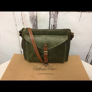 Patricia Nash Avellino Green Leather Crossbody Bag